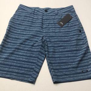 🆕 OAKLEY Mens 30 Blue Stripe Board Shorts
